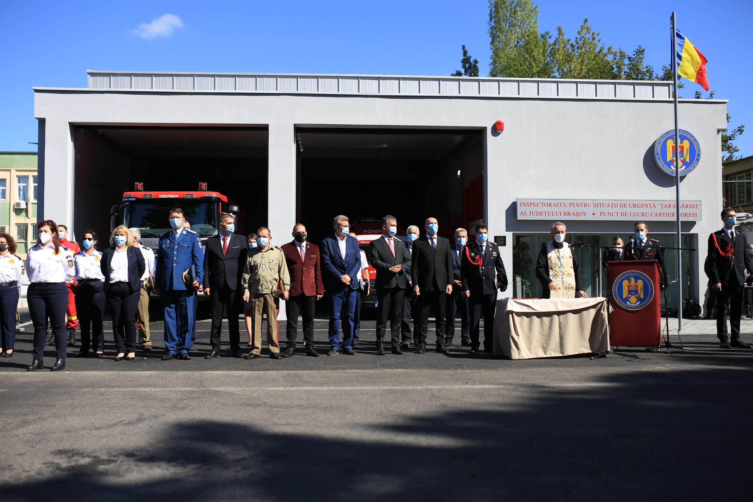 COMUNICAT DE PRESĂ – I.S.U. Brașov a operaționalizat o noua statie de pompieri
